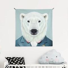 패브릭 포스터 S053 아이방 그림 액자 동물 친구 북극곰