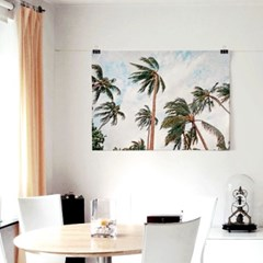 패브릭 포스터 F250 풍경 식물 인테리어 액자 야자수 바람