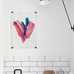 패브릭 포스터 F231 북유럽 인테리어 천 액자 패션 깃털