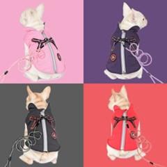 [리얼펫] 패딩가슴줄 조끼 (4 color)