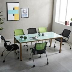 국산 철제 4인6인 몬드 테이블 미팅 회의 사무실 책상_(2186986)