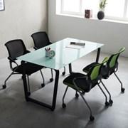 테이블 회의용 국산 4인미팅 다이아 1200 사무용 책상_(2186828)