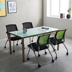 철제 4인용 사무실 회의용 테이블세트 국산 몬드 1200_(2186825)