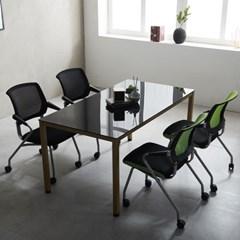 회의용 철제책상 4인 사무실 몬드 1500 테이블 국내산_(2186823)