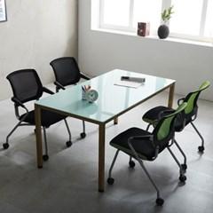 1200 철제책상 4인 사무실 회의용 테이블 국내산 몬드_(2186822)