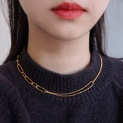 18K GOLD PLATING 샤토 목걸이 실버 925_(1874785)