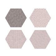 폴리곤 코스터 핑크 (4개세트) - Polygon Coaster Light Pink