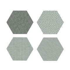 폴리곤 코스터 민트 (4개세트) - Polygon Coaster Mint