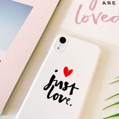 저스트러브 핸드폰케이스/아이폰 갤럭시 XS XR S8 S9 노트 5 8 9 +