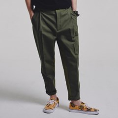 Mixed tapered pants_KHAKI