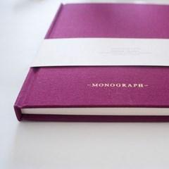 덴마크 모노그래프 패브릭 커버 노트 80page /  2가지 컬러