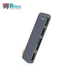 (라이노) USB 타입 C 멀티 허브 5 in 1_알루미늄 케이스