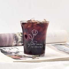 블룸 드로잉 유리컵