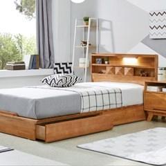 웨어하우스 소나타 원목평상형 침대 (사각고정타입) - 라지킹