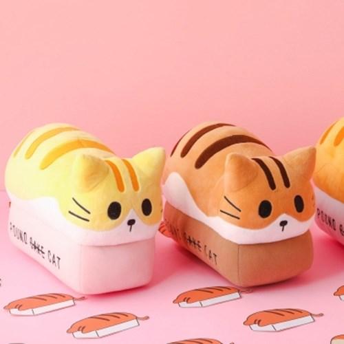 포근한 고양이식빵 인형 - peach