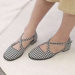 kami et muse Cross top strap feminine loafers_KM19s003