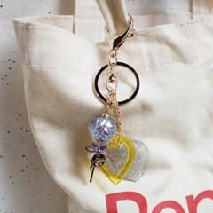 Lollipop Snowball Key Chain