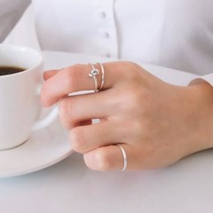 (92.5 silver) skinny band ring 02