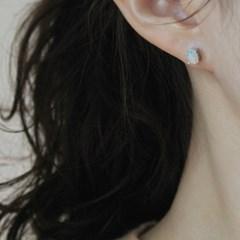 오팔 퓨어 오벌 귀걸이(10월탄생석)
