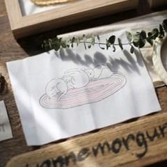 포근한 담요위 돼냥이 세마리 액자 만들기 프랑스자수 KIT