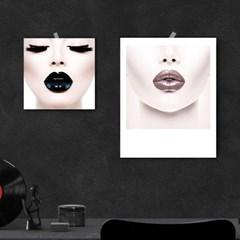 코코 샤넬 입술 포스터