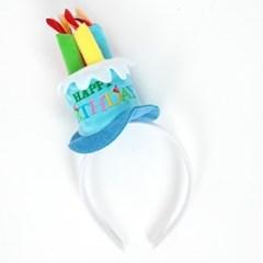 생일케익모자머리띠 [블루]_(11648206)