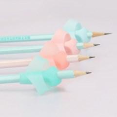 [2+2P 1세트 연필교정기 무독성실리콘] 글씨교정 펜그립잡는법