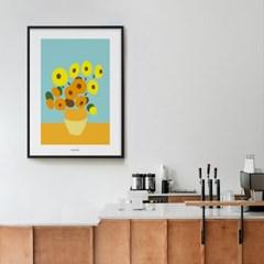 유니크 인테리어 디자인 포스터 M 고흐 해바라기 그림