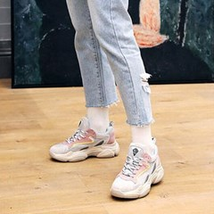 kami et muse Leather mix match 3.5cm up sneakers_KM19s017