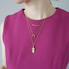 [925실버]골드 미니 달 목걸이 gold mini moon necklace