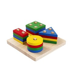 플랜토이즈 원목교구 학습완구 컬러 도형 맞추기 2403_(1560858)