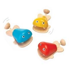 플랜토이즈 원목교구 악기놀이 물고기 캐스터네츠 6435_(1560878)