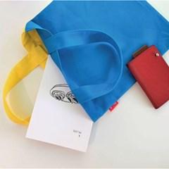 [라이크민] 미니 캔버스백 에코백 데일리 블루/옐로