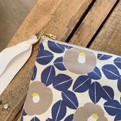 패브릭파우치 Fabric pouch - FLOWER BEIGE