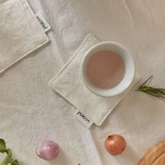 코르 [광목] 컵받침 화이트