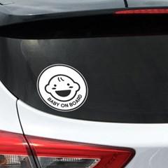 아기가타고있어요 자동차 스티커 베이비콩