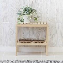 [잉카]소나무 원목 벤치형 신발정리대 2단 500 2컬러