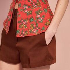 Pleat Short Pants(3col)