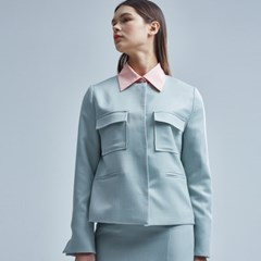 FLINN NO COLLAR JACKET MINT