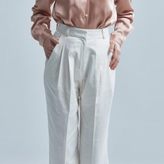 RUMOR TWIN PINTUCK SLACKS IVORY