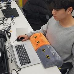 [오렌지]바른자세 유도용 기능성쿠션-미에보