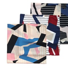 모던 그래픽 사각 스카프 (3 colors)