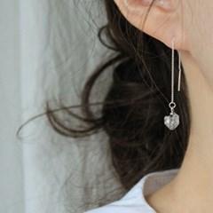 천연 하키마 다이아몬드 체인 귀걸이