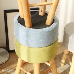 원목 패브릭 보조의자 (4color)