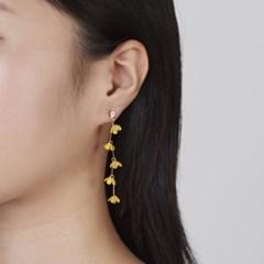 옐로우꽃 지그재그 귀걸이