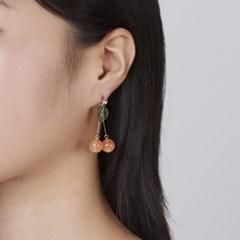 오렌지 체리 귀걸이