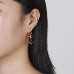 유닛 언발 핑크골드 귀걸이
