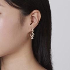 진주 와이어링 귀걸이