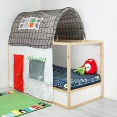 이케아 KURA 베드텐트+커튼(KURA 양면 침대 전용)_(701549489)