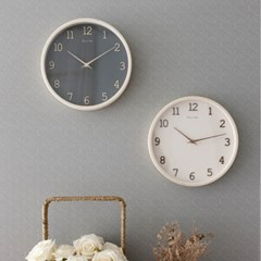 먹색+벚꽃 핑크 바닐라S 무소음 우드바늘,숫자벽시계